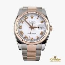 Rolex Datejust Or/Acier 36mm Blanc Romain