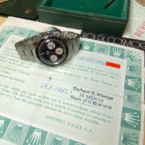 Rolex Daytona Steel 37mm Black No numerals