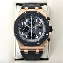 Audemars Piguet Royal Oak Offshore Chronograph Rosa guld 42mm Grå Arabertal