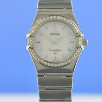 Omega Constellation Ladies Stahl 25.5mm Perlmutt