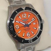 Breitling Superocean 42 Stahl 42mm Orange Arabisch Schweiz, Ascona