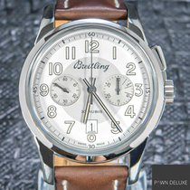 Breitling Transocean Chronograph 1915 Acero 43mm Plata Árabes