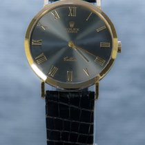 Rolex Cellini Žluté zlato 32mm Šedá Římské