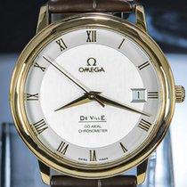 Omega Or rouge Remontage automatique Argent Romain 36.5mm occasion De Ville Prestige