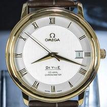 Omega De Ville Prestige occasion 36.5mm Argent Date Cuir de crocodile