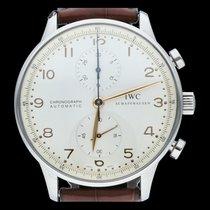 IWC Portuguese Chronograph Acier 41mm Argent Arabes Belgique, Brussel