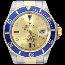 Rolex Submariner Date Gold/Steel 40mm Yellow No numerals