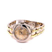 Rolex Lady-Datejust Pearlmaster Aur alb 29mm Alb