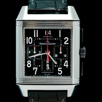 Jaeger-LeCoultre Reverso Squadra Chronograph GMT Ατσάλι 35mm Μαύρο Αραβικοί