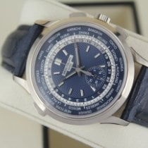 Patek Philippe Oro blanco Automático Azul Sin cifras 39.5mm usados World Time Chronograph