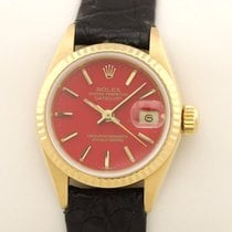Rolex Lady-Datejust Gelbgold 26mm Rot