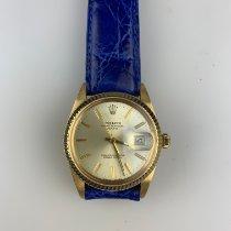 Rolex Oyster Perpetual Date Gelbgold 34mm Gold Keine Ziffern