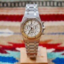 Audemars Piguet Royal Oak Chronograph Otel 39mm Alb Fara cifre