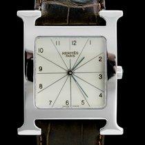 Hermès Heure H Stahl 26mm Weiß Arabisch