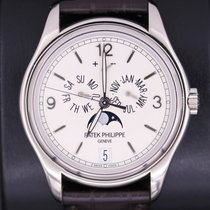 Patek Philippe Annual Calendar White gold 39mm Champagne Arabic numerals United States of America, New York, New York