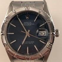 Rolex Datejust Turn-O-Graph Stål 36mm Blå Inga siffror