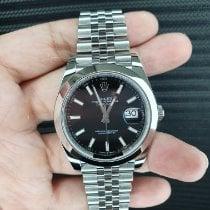 Rolex Datejust Steel 41mm Black No numerals Singapore, Singapore
