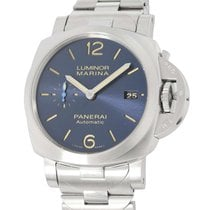 Panerai Luminor Marina Automatic Stahl 42mm Blau Arabisch