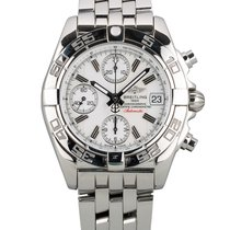 Breitling Chrono Galactic Steel 39mm White No numerals