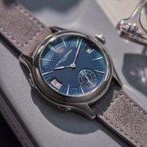 Laurent Ferrier Oro blanco 41mm Automático Laurent Ferrier Galet Traveller Micro-Rotor blue dial usados