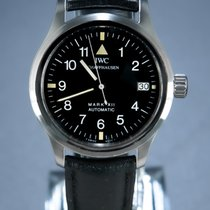 IWC Pilot Mark occasion 36mm Noir Date Cuir