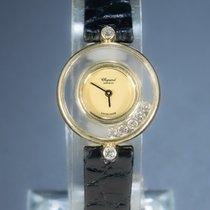 쇼파드 옐로우골드 24mm 쿼츠 해피 다이아몬드 중고시계