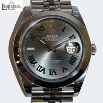 Rolex Datejust Steel 41mm Grey Roman numerals