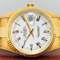 Rolex Oyster Perpetual Date Oro amarillo 34mm Blanco Sin cifras España, Palau Solita i Plegamans - Barcelona