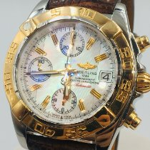 Breitling Chrono Cockpit occasion 39mm Nacre Chronographe Date Cuir