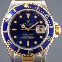 Rolex Submariner Date Gold/Stahl 40mm Blau Keine Ziffern Deutschland, Essen