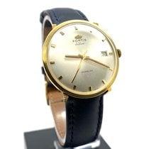 포티스 옐로우골드 수동감기 흰색 34mm 중고시계