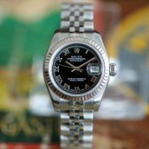 Rolex Lady-Datejust Acero y oro 26mm Negro