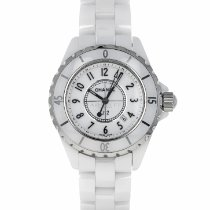 Chanel Ceramic Quartz White Arabic numerals 33mm pre-owned J12