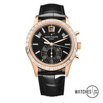 Patek Philippe Annual Calendar Chronograph Rose gold 40.5mm Black No numerals United States of America, New York, New York