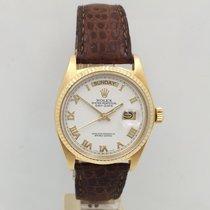 Rolex Day-Date 36 Or jaune 36mm Blanc Sans chiffres