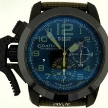 Graham Chronofighter Oversize 2CCAU.G01A.T15N Zeer goed Staal 47mm Automatisch
