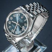 Rolex Lady-Datejust Stahl 31mm Blau Arabisch