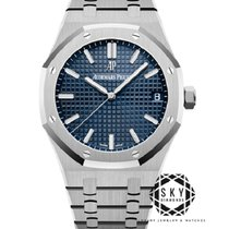 Audemars Piguet Royal Oak Сталь 41mm Синий Без цифр