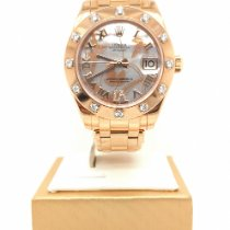 Rolex Lady-Datejust Pearlmaster Rose gold 34mm Mother of pearl Roman numerals Singapore, Singapore
