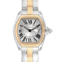 Cartier Roadster Gold/Steel 36mm Silver Roman numerals