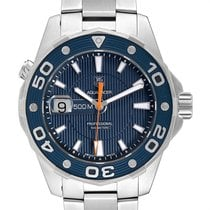 TAG Heuer Aquaracer 500M pre-owned 43mm Blue Date Steel