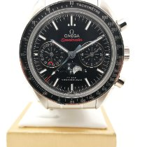 Omega Speedmaster Professional Moonwatch Moonphase Acero Negro Sin cifras