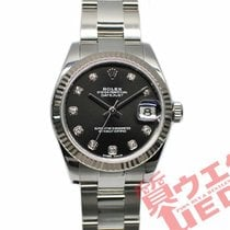 Rolex Lady-Datejust Золото/Cталь 31mm Чёрный