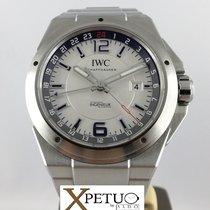 IWC Ingenieur Dual Time Acero 43mm Plata Arábigos