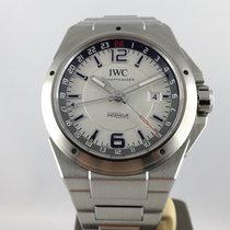 IWC Ingenieur Dual Time Stål 43mm Silver Arabiska