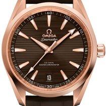 Omega Oro rosa Automático Marrón Sin cifras 41mm nuevo Seamaster Aqua Terra