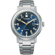 Citizen Steel 42mm Quartz AW1620-81L Citizen Military Blu 42mm Eco Drive Acciaio new