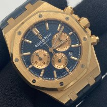Audemars Piguet Royal Oak Chronograph occasion 41mm Bleu Chronographe or rose