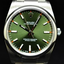 Rolex Oyster Perpetual 34 Acero 34mm Verde Árabes