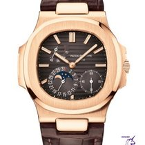 Patek Philippe Nautilus Rose gold 40mm Brown No numerals